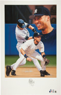 Autographs:Others, 2001 Derek Jeter Signed Lithograph by Danny Day....