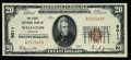 National Bank Notes:Missouri, Wellston, MO - $20 1929 Ty. 1 The First NB Ch. # 8011. ...