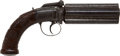 Handguns:Muzzle loading, English Dragoon Percussion Pepperbox Revolver by James Beattie....