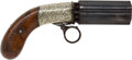 Handguns:Muzzle loading, British Engraved Pepperbox Revolver by J.P. Cooper....