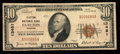 National Bank Notes:Missouri, Clayton, MO - $10 1929 Ty. 1 Clayton NB Ch. # 13481. ...