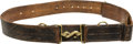 "Antiques:Antiquities, Rare Confederate Pattern 1853 Enfield Rifle Belt and Brass ""Snake""Pattern Buckle Ensemble. ..."