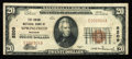 National Bank Notes:Missouri, Springfield, MO - $20 1929 Ty. 1 The Union NB Ch. # 5209. ...