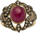 Estate Jewelry:Rings, Ruby, Diamond, Silver-Topped Gold Ring. ...