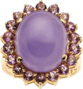 Estate Jewelry:Rings, Lavender Jade, Amethyst, Gold Ring. ...