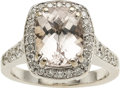 Estate Jewelry:Rings, Morganite, Diamond, White Gold Ring, Charles Krypell. ...