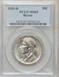 Commemorative Silver: , 1935-D 50C Boone MS65 PCGS. PCGS Population (318/88). NGC Census:(233/87). Mintage: 5,005. Numismedia Wsl. Price for probl...