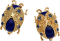 Estate Jewelry:Brooches - Pins, Lapis Lazuli, Sapphire, Ruby, Gold Brooches. ...
