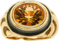 Estate Jewelry:Rings, Citrine, Enamel, Gold Ring, Elizabeth Gage. ...