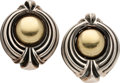 Estate Jewelry:Earrings, Sterling Silver, Gold Earrings, Lagos. ...