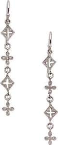 Estate Jewelry:Earrings, Diamond, Platinum Earrings, Cathy Waterman. ...