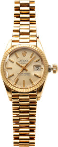 Estate Jewelry:Watches, Rolex Lady's Gold DateJust Wristwatch, circa 1978. ...