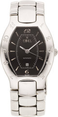 Estate Jewelry:Watches, Ebel Lady's Stainless Steel Lichine Wristwatch, modern. ...