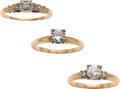 Estate Jewelry:Lots, Diamond, Gold Rings. ...