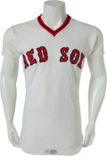 Baseball Collectibles:Uniforms, 1977 Bernie Carbo Game Worn Boston Red Sox Jersey....