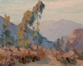 Texas:Early Texas Art - Regionalists, WILLIAM POSEY SILVA (American, 1859-1948). Canyon withCacti. Oil on canvas board. 12 x 15 inches (30.5 x 38.1 cm).Sign...