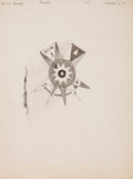 Works on Paper, FREDERIC SACKRIDER REMINGTON (American, 1861-1909). A Decoration on Robe, 1891. Ink on paper. 11-1/2 x 8-1/2 inches (29....