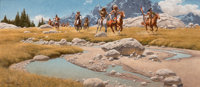 FRANK MCCARTHY (American, 1924-2002) From the Meadows of the Beartooth, 1991 Oil on canvas 18 x 4