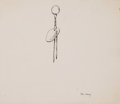 Works on Paper, FREDERIC SACKRIDER REMINGTON (American, 1861-1909). Ute Earring, 1891. Ink on paper. 7 x 8 inches (17.8 x 20.3 cm). Titl...