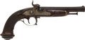 Handguns:Muzzle loading, French Single Shot Percussion Pistol by Le Page....