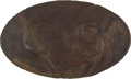 "Antiques:Antiquities, Scarce Excavated Die-Struck C.S. ""Tennessee Egg"" Brass Oval Belt Plate...."