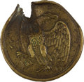 Antiques:Antiquities, Yankee Shoulder Belt Plate Struck by a Confederate Bullet....