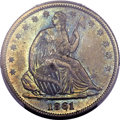 Seated Half Dollars, 1861 50C MS64 PCGS. CAC....