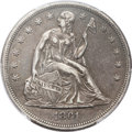 Seated Dollars, 1861 $1 XF40 PCGS. CAC....