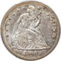 Seated Dollars, 1846 $1 MS62 PCGS. CAC....