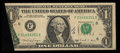 Error Notes:Foldovers, Fr. 1915-F $1 1988A Federal Reserve Note. Very Fine.. ...