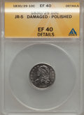 Bust Dimes, 1830/29 10C -- Damaged, Polished -- ANACS. XF40 Details. JR-5. NGCCensus: (3/28). PCGS Population (2/22). Mintage: 510,00...