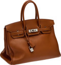 Luxury Accessories:Bags, Hermes 35cm Gold Togo Birkin with Palladium Hardware. ...