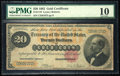 Large Size:Gold Certificates, Fr. 1178 $20 1882 Gold Certificate PMG Very Good 10.. ...