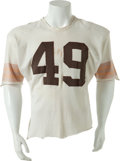 Football Collectibles:Uniforms, Circa 1959-60 Bobby Mitchell Game Worn Cleveland Browns Jersey, With Pants....