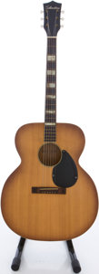 Musical Instruments:Acoustic Guitars, Circa Early 1960's Silvertone Jumbo Ice Tea Burst Acoustic Guitar, #L958 8105....