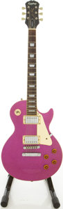 Musical Instruments:Electric Guitars, Epiphone Les Paul Standard Purple Sparkle Solid Body ElectricGuitar, #U6110194....