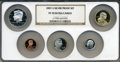 Proof Sets, 2007-S Silver Proof Set PR70 Ultra Cameo NGC. This set includes: Lincoln Cent, Monticello Nickel, Roosevelt Dime, Kennedy Ha... (Total: 5 coins)