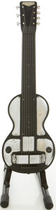 Musical Instruments:Lap Steel Guitars, Circa 1930's Rickenbacher B 7-String Model Black Lap Steel Guitar,#B739....
