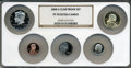 Proof Sets, 2008-S Clad Proof Set PR70 Ultra Cameo NGC. This set includes: Lincoln Cent, Monticello Nickel, Roosevelt Dime, Kennedy Half... (Total: 5 coins)