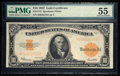 Large Size:Gold Certificates, Fr. 1173 $10 1922 Gold Certificate PMG About Uncirculated 55.. ...