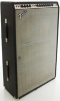 Musical Instruments:Amplifiers, PA, & Effects, 1970's Fender Super Six Reverb Silverface Guitar Amplifier, #A67029....