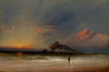 Paintings, JAMES HAMILTON (American, 1819-1878). From the Tempest. Oil on board. 6-1/2 x 9 inches (16.5 x 22.9 cm). Signed lower ri...