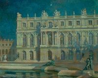 ALEXANDER HARRISON (American, 1853-1930) Nocturne, Versailles Oil on canvas 26 x 32 inches (66.0