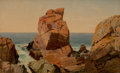 Fine Art - Painting, American:Antique  (Pre 1900), WILLIAM M. HART (American, 1823-1894). Rocks on the Shore.Oil on canvas. 12 x 19-1/2 inches (30.5 x 49.5 cm). Signed lo...