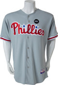 Baseball Collectibles:Uniforms, 2009 Chase Utley Game Worn Philadelphia Phillies Jersey....