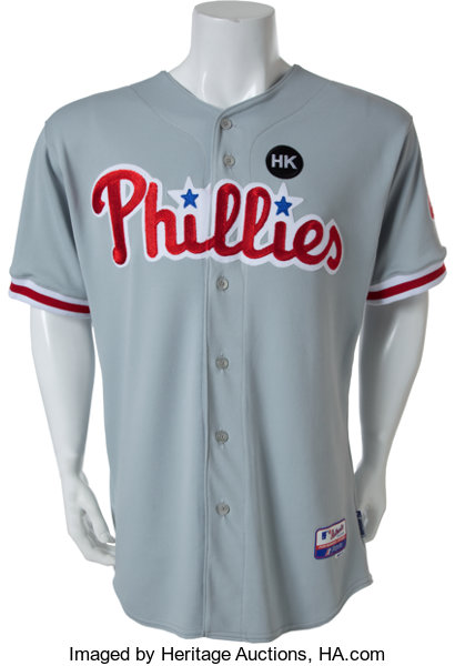 super cute a9c1d b8368 2009 Chase Utley Game Worn Philadelphia Phillies Jersey ...