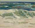 Fine Art - Painting, American:Modern  (1900 1949)  , WHINEY MYRON HUBBARD (American, 1875-1965). Seashore (RollingWaves), c. 1930. Oil on thin artist's board laid on a seco...