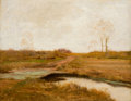 Fine Art - Painting, American:Modern  (1900 1949)  , FREDERICK W. KOST (American, 1865-1923). Southfield Marshes,Staten Island. Oil on canvas. 22 x 28-1/4 inches (55.9 x 71...