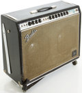 Musical Instruments:Amplifiers, PA, & Effects, Circa 1969 Fender Twin Reverb Silverface Guitar Amplifier, #A16758....