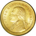 Commemorative Gold: , 1903 G$1 Louisiana Purchase/Jefferson MS64 PCGS. Only 17,500 piecesof this design were minted, with a sizable number of th...